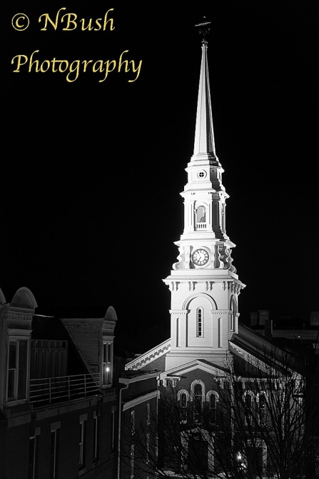 North Church Steeple Black and White