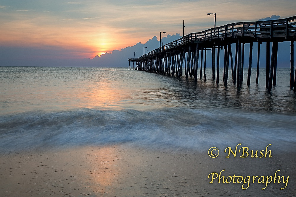 Sunrise nathan bush photography for Nags head fishing pier