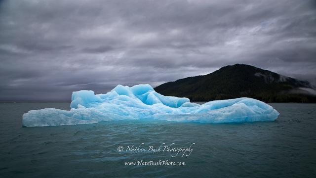 Vibrant Blue Iceberg