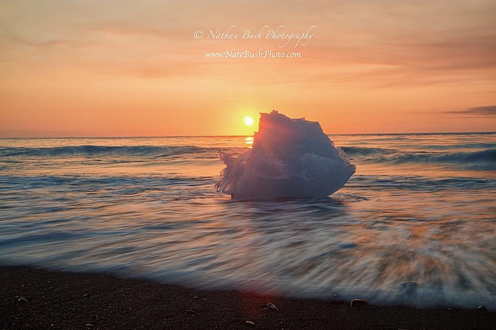 Iceberg Sunrise Jökulsárlón Lagoon