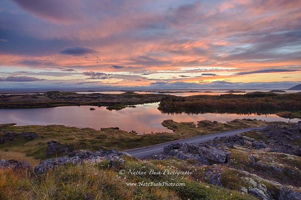 Myvatn Sunset Iceland
