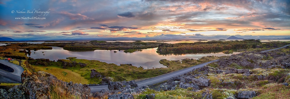 Myvatn Sunset Pano